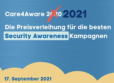Online-Care4Aware-Preisverleihung – Der Award für die besten Security Awareness Initiativen